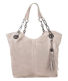Another great find on #zulily! Ice Leather Tassel Tote #zulilyfinds