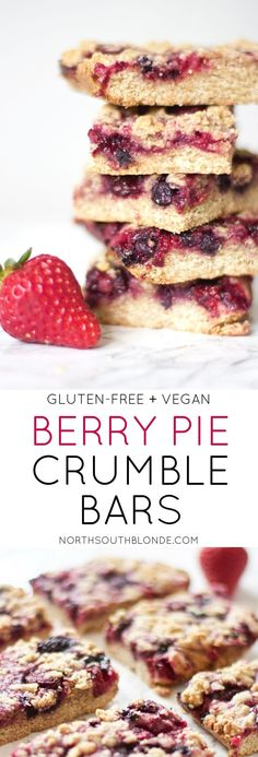 Get your mixed berry pie fix without all the fat and carbs. These gluten-free and vegan crumble bars will be you're go-to for breakfast or dessert! Made with frozen strawberries, blueberries, raspberries, & blackberries. Homemade, home cooked, baked, delicious, and wholesome and healthy! Nutritious | Nutrition | Kid-Friendly | Family Friendly | Holiday | Special Occasion | Mother's Day | Mixed Berry | Triple Berry | Pie | Crumb | Crumble | Natural | Organic | Fresh Fruit | Fibre | Protein |