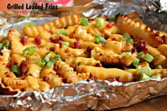 Super crunchy and super easy Grilled Loaded Fries #Recipe #CreativeHop