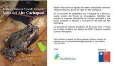 Invitación Seminario Riqueza Natural y Social del Valle del Alto Cachapoal