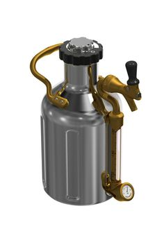 uKeg 64 - Our original uKeg 64 is a mini keg in the size of a half-gallon growler, keeps beer cold and fresh. On the go or at home. Durable, double-wall vacuum insulated stainless steel. CO2 regulator cap with customizable tap handle and gauge. Brass carrying handle.