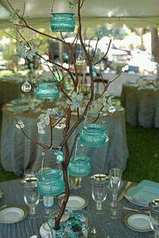 centro de mesa con cristales | MuyAmeno.com: Centros de Mesa con Ramas y Cristales, parte 2