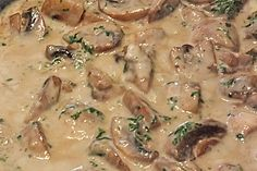 Shrimp Recipes Recipe Champignon cream sauce by LEV-BB – recipe from the category Sauces / Dips / Brota … Shrimp Recipes, Beef Recipes, Vegan Recipes, Cooking Recipes, Sauces Thermomix, Mushroom Cream Sauces, Mushroom Sauce, Cream Sauce Recipes, Good Food