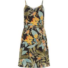 TROPICAL GARDEN CAMI DRESS (81 AUD) ❤ liked on Polyvore featuring dresses, vestidos, holiday dresses, camisole dress, cocktail dresses, cami dresses and evening dresses