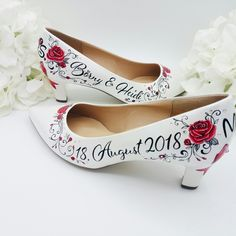 Brautschuhe, bemalte Brautschuhe, Facebook: Art by Janine-JK #Braut #heels #weddingshoes #wedding #bride #artbyjanine #handpainted #handbemalt #Hochzeit2018 #wedding2018 #customheels #unique #love #bride2018  #flower #weddingforward #photography #weddinpicture #bridal #personalized #weddingideas #weddinginspiration