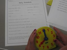 FREE Elapsed Time Activity-Use your class schedule to make math meaningful for students.