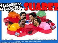 Luis Suarez bohaterem śmiesznej zabawki • Głodny Luis Suarez gadżetem • Śmieszne zdjęcia w piłce nożnej • Wejdź i zobacz więcej >> #suarez #football #soccer #sports #pilkanozna #funny