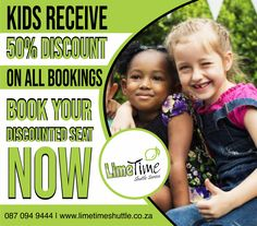 We offer a 50% discount for kids under the age of 12. Take advantage of this amazing offer now, book your ticket online or you contact us on 087 094 9444. #limetimeshuttle #KIDSDISCOUNT