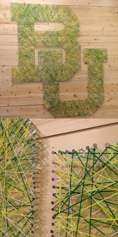 Baylor BU nail art // What a fun project!!