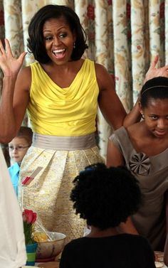 Michelle Obama tapped into her inner kid