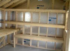 Wood Shed Off Garage - Explaining Real-World Diy Shed Plans Advice - Off Grid Living Storage Shed Organization, Built In Storage, Kayak Storage, Attic Storage, Lumber Storage, Woodworking Organization, Woodworking Garage, Workshop Organization, Basement Storage