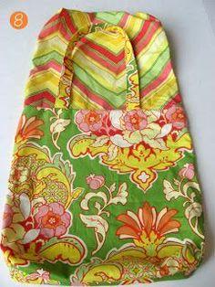 Como hacer un bolso de tela reversible