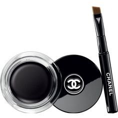 CHANEL Calligraphie de chanel longwear intense cream eyeliner ($31) ❤ liked on Polyvore featuring beauty products, makeup, eye makeup, eyeliner, beauty, chanel eye makeup, gel eye liner, long wear eyeliner, chanel eye liner and cream eye liner