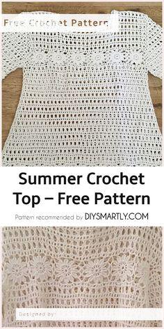 Summer Crochet Top – Free Pattern #crochet #crochettop #freecrochetpattern