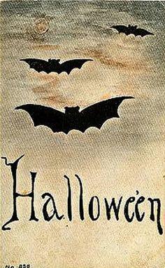 Free freebie printable vintage Halloween bats
