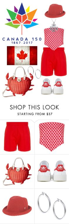 """Happy Canada Day Aye!"" by shirley-de-gannes ❤ liked on Polyvore featuring Wood Wood, Miu Miu, Betsey Johnson, adidas Originals, Dondup, Sterling Essentials and Carolina Glamour Collection"