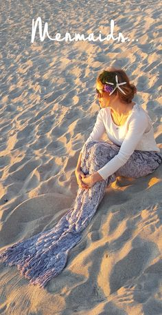 Get that ELEGANT MERMAID GLOW... Gorgeous silver knit mermaid tail blankets fit adults! FINALLY! Everything I have ever wanted!! Get it today at seatailshop.com! XO, Mermaid Julie