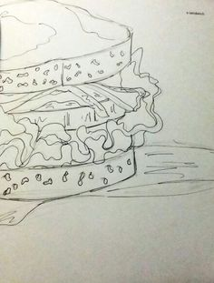 642 things to draw : a sandwich (still need colour) Sandwich Drawing, Art Journal Inspiration, Smash Book, Journal Pages, Art Journals, Art Forms, Coloring Books, Street Art, Colour