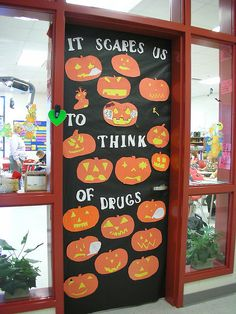 Door Decorations for Red Ribbon Week by Old Shoe Woman, via Flickr