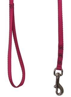 East Side Nylon Dog Puppy Leash Lead Madras Plaid PINK Choose 4ft or 6 ft NEW