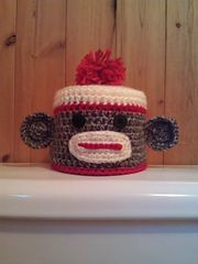 Ravelry: Sock Monkey Toilet Tissue Cover pattern by Susan Wilkes-Baker