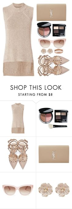 """""""My Style"""" by simona-altobelli ❤ liked on Polyvore featuring Brochu Walker, Bobbi Brown Cosmetics, Valentino, Yves Saint Laurent, Kate Spade, River Island, Lauren Wolf, monochrome, MyStyle and beige"""