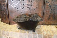Vintage Ash Pot Fireplace Ash Pot Fireplace by Vintassentials