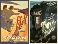 Cool vintage posters at California Adventure. Awesome!