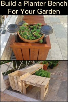 Build a Planter Bench For Your Garden  Have garden furniture and decor in one through this DIY project.