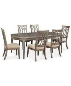 Kelly Ripa Home Kelly Ripa Home Hayley 7-Pc. Dining Set (Dining Table & 6 Side Chairs) | macys.com