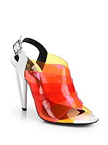 Fendi - Multicolored PVC Slingback Sandals