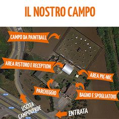 Il nostro campo di #paintball visto da #google :)