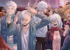 The Other Way Around - Half cold, half bald Boku No Hero Academia Funny, My Hero Academia Shouto, My Hero Academia Episodes, Hero Academia Characters, Anime Characters, Otaku Anime, Anime Guys, Fanart Manga, Anime Lindo