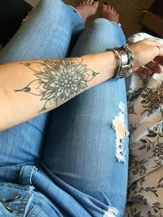 Forearm Tattoo Ideas at MyBodiArt - Arm Mandala Temporary Tattoo for Women                                                                                                                                                                                 More