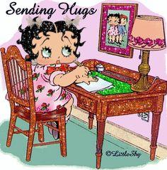 Betty Boop as Child sending hugs Baby Esther, Boop Gif, Birthday Cartoon, Glitter Gif, Greetings Images, Betty Boop Pictures, Famous Cartoons, Sending Hugs, Big Hugs