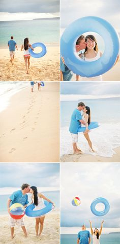 Fun Beach Engagement Photos