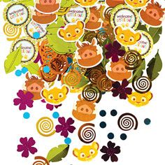 Lion King Baby Shower Confetti 2 1/2oz- Table Decorations, Confetti- Baby Shower- Shop by Occasion-Party America