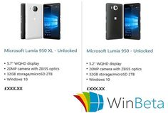 #Microsoft Store listed #Lumia950 and #Lumia950XL Briefly