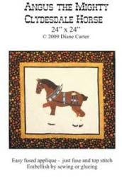 Angus The Mighty Clydesdale Horse Pattern Cover
