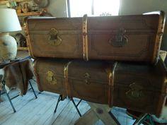Retro koffers bruin, inspiratie woonkamer decoratie vintage en industriële stijl