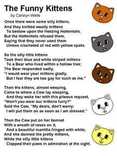 Poetry And Songs For Children From Dltks Crafts Kids