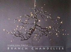 pictures for fiber optic designs | Fiber Optic Branch Chandelier | Lighting Design