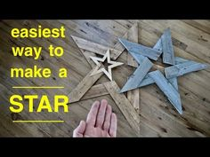 How To Make ● Any Size Star from Old Fence Boards or Pallet Wood ( Easily ! Wood Projects For Beginners, Small Wood Projects, Scrap Wood Projects, Diy Pallet Projects, Vinyl Projects, Scrap Wood Crafts, Pallet Crafts, Woodworking Jigsaw, Easy Woodworking Projects