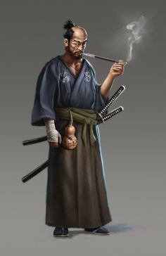 Samurai by mobocanario Fantasy Rpg, Medieval Fantasy, Fantasy Artwork, Ronin Samurai, Samurai Warrior, Character Concept, Character Art, Character Ideas, Concept Art