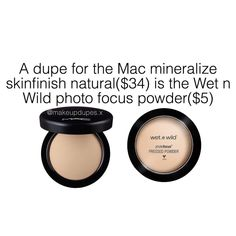 "357 Likes, 8 Comments - makeup dupes (@makeupdupes.x) on Instagram: ""here's a great dupe for the Mac mineralized skinfinish powder by wet n wild!these powders have…"""