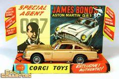 Vintage James Bond Aston Martin DB 5 — Corgi #261 via Cool & Collected