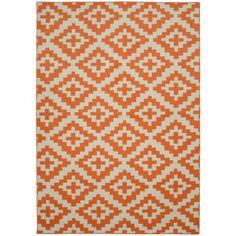 Southwest Orange/Ivory 5 ft. x 7 ft. Area Rug