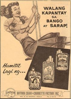 a famous seniors cigar Filipino Funny, Filipino Art, Filipino Culture, Advertisement Images, Old Advertisements, Advertising Poster, Vintage Comics, Vintage Ads, Vintage Posters