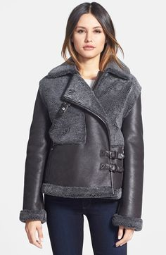 Blue Duck Genuine Shearling Bomber Jacket (Regular & Petite) available at #Nordstrom