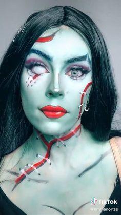 Horror Makeup, Scary Makeup, Clown Makeup, Edgy Makeup, Cute Makeup, Face Paint Makeup, Makeup Art, Crazy Halloween Makeup, Monster High Makeup